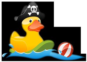 Kinderspaß Piratenente