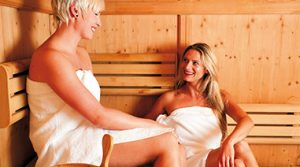 Unsere Sauna im Wananas